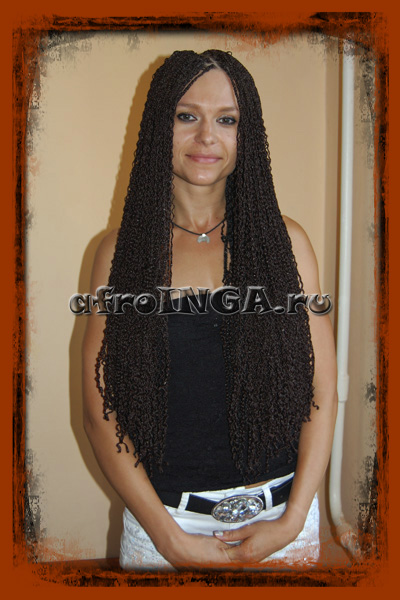 афрокосички зизи волна плетение на короткие волосы